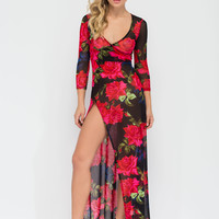 Rose Garden Walk Wrap Maxi Dress GoJane.com