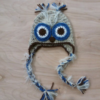 Owl hat, baby girl boy going home outfit, newborn gift, infant hat, toddler hat, photo prop