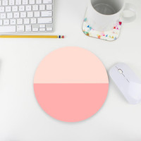 Color Block Mouse Pad / Mousepad / Pink Ombre
