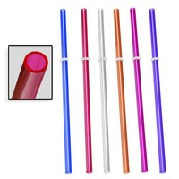 Signature Tumblers 6pc Reusable Thick-Wall Straws, Assorted