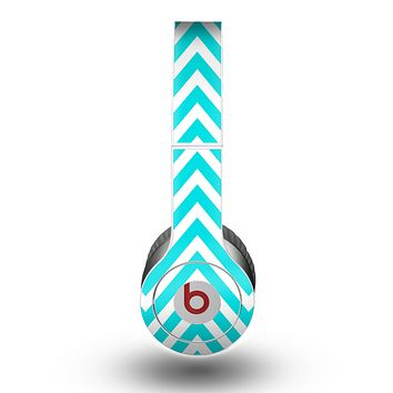 The Trendy Blue Sharp Chevron Pattern Skin for the Beats by Dre Original Solo-Solo HD Headphones