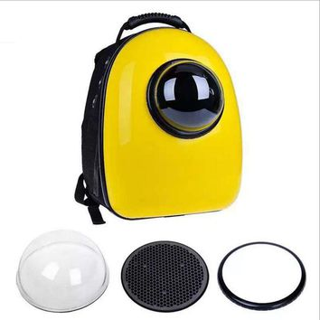 Space Capsule Shaped Pet Carrier  Breathable pet backpack PC pet dog  outside Travel bag portable bag  cat bags  GP160429-3