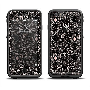 The Black Floral Lace Apple iPhone 6 LifeProof Fre Case Skin Set