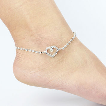 Jewelry Ladies Gift Stylish Cute New Arrival Sexy Shiny Hot Sale Rhinestone Anklet [6464851777]