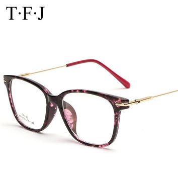 TFJ Vintage Optical Glasses frame Exclusive Brand Designer Women eyeglasses frame Metal Crystal Decoration oculos De Grau
