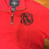 Monogram Quarter Zip Charles River Sweatshirt