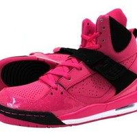 Jordan GIRLS JORDAN FLIGHT 45 HI PREMIUM (GS) VIVID PINK/WHITE//BLACK 547769-601