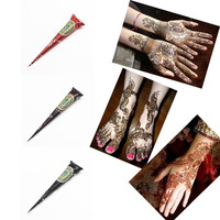 3Color New Arrivals Body Art Paint High Quality Mini Natural Indian Tattoo Henna Paste for Body Drawing Black Henna tattoo