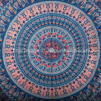 Queen Elephant Camel Mandala Bedspread, Mandala Wall Hanging, Indian Mandala tapestries, Boho Tapestries, Bohemian Wall art, Camel mandala