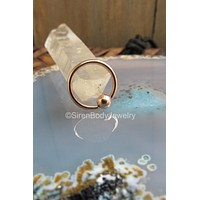"""18g Rose gold fixed bead ring tragus hoop helix earring 1/4"""" 5/16"""""""