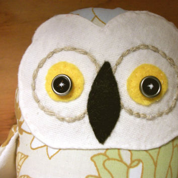 Owl Stuffed Animal Posy by RopeSwingStudio on Etsy