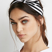 Textured Stripe Bow Headwrap