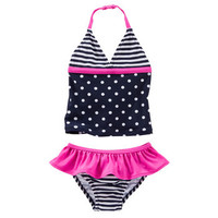 Polka Dot & Stripes Tankini