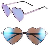Women's Wildfox 'Lolita' 59mm Heart Sunglasses
