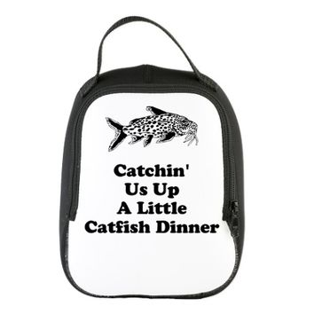 Catchin Us Up A Little Catfish Dinner Neoprene Lun