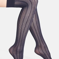 Women's Vince Camuto Openwork Knit Thigh High Socks