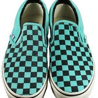 Vans Classic Slip On Washed Pool Blue Trainers - Buy Online at Grindstore.com