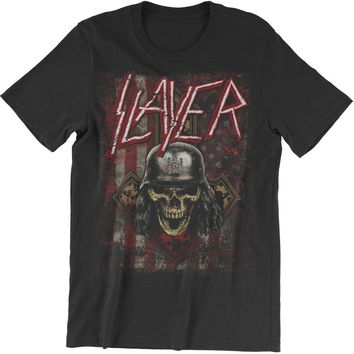 Slayer Men's  Slaymerica T-shirt Black