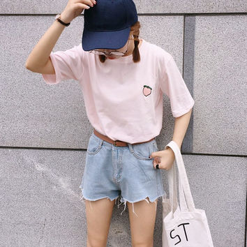 PEACH PATCH TEE