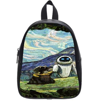 Disney Starry Night Wall E And Eve School Backpack Medium