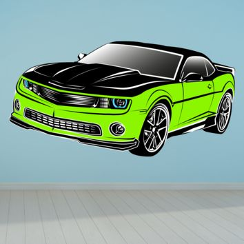 Green Chevrolet Muscle Car Wall Decal