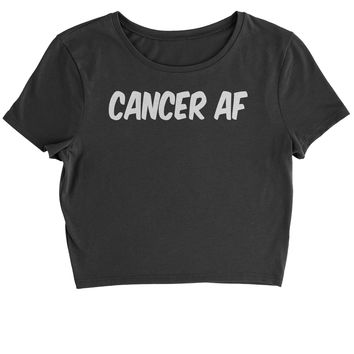 Cancer AF As F-ck Zodiac Cropped T-Shirt