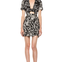 Isabel Marant | Mira Hawaiian Mixed Silk in Black www.FORWARDbyelysewalker.com