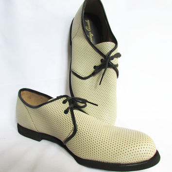 Lattice Leather Shoes Waukeze Casuals Vintage 60s 10