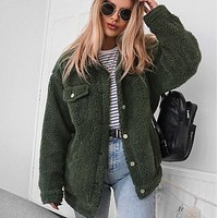 Teddy Button Up Jacket