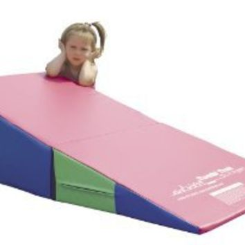Tumbl Trak Random Colors Folding Incline with Velcro Flap and Handles, 24-Inch Width x 48-Inch Length x 14-Inch Height (Colors may vary)
