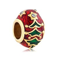 Christmas Gifts Gold Plated Christmas Tree Charm New Sale Cheap Beads Fit Pandora Jewelry Charms Bracelet