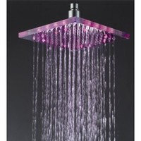 10 - Inch No Battery 3 Color LED Temperature Sensitive Rainfall Bathroom Square Shower Head, Chrome Finish Ys-1716 - Amazon.com