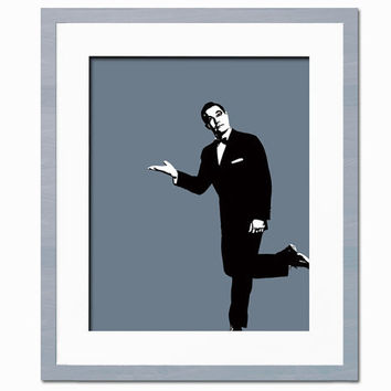 Gene Kelly Illustration - Art Print - Hollywood Stars - Actor, Dancer - Movie Poster - 8 x 10 Wall Decor