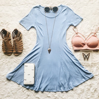 A Rachel Dress in Pale Blue