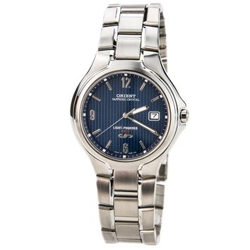 Orient CVD0P005D Men's Blue Dial Stainless Steel Solar Cell Energy Watch