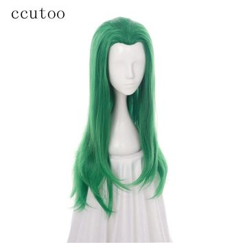 ccutoo Green Curly Female Joker Mermaid Girl Synthetic Hair Cosplay Full Wig Heat Resistance Fiber