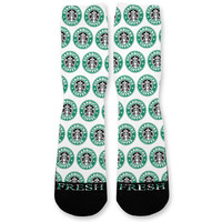 Starbucks Custom Athletic Fresh Socks