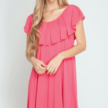 Ruffle Top Swing Dress