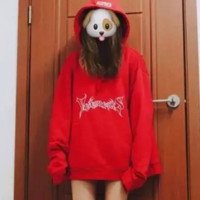 VETEMENTS red hooded Add wool Men and women oversize loose