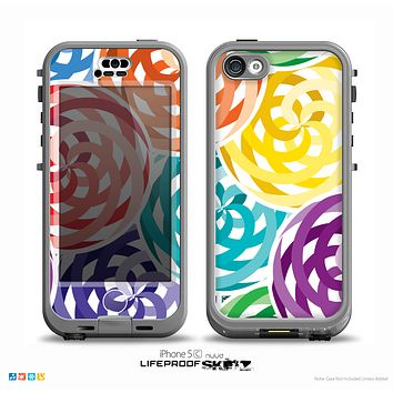 The Colorful Spiral Eclipse Skin for the iPhone 5c nüüd LifeProof Case
