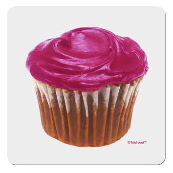 "Giant Bright Pink Cupcake 4x4"" Square Sticker by TooLoud"