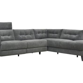 Beaumont Power Recliner Sectional Sofa Right   Dark Grey