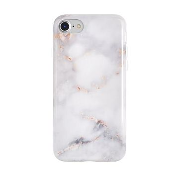 Gray Clouds Marble iPhone Case
