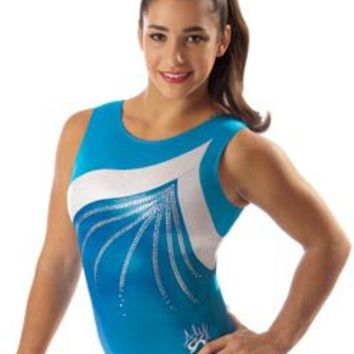 Aly Raisman Electric Turquoise Tank Leotard from GK Elite