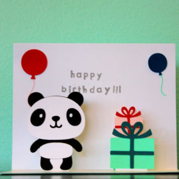 Pop Up Card- Panda - Happy Birthday