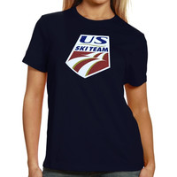 U.S. Ski Team Ladies Standard Logo T-Shirt - Navy Blue