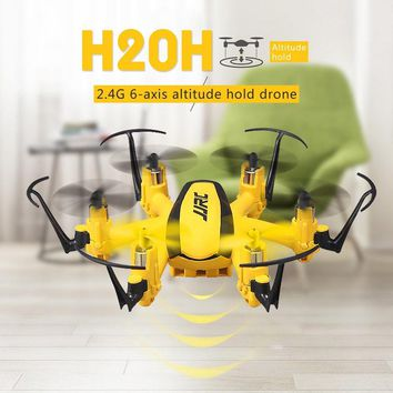 Original JJRC H20H Hexacopter 2.4G 4CH 6 Axis Altitude Hold Headless Mode RTF Mode 2 RC Models Multicopter Toys Yellow