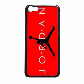 Jordan Black Logo Red Background13 iPhone 5c Case