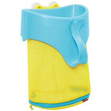 Skip Hop Moby Scoop and Splash Bath Toy Organizer Tub - Yellow and Blue