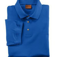 Men's Harriton Short Sleeve Interlock Polo With Tipping